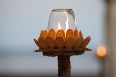 Shell Candle Royalty Free Stock Photo