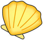 Shell of clam. royalty free illustration
