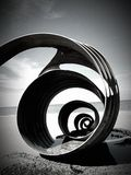 The Shell on Cleveleys beach stock photography
