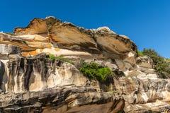 Shell comme la formation de roche donnant sur la plage de Bronte, Sydney Australia photos libres de droits
