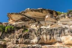Shell comme la formation de roche donnant sur la plage de Bronte, Sydney Australia images libres de droits