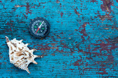 Shell compass Royalty Free Stock Photo