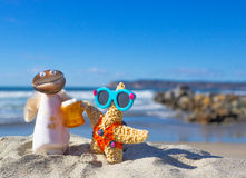 Shell Couple on Vacation Royalty Free Stock Photo