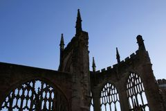 Shell of Coventry Cathedral Stock Photography