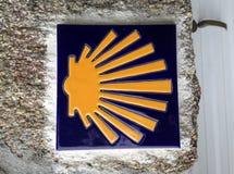 Shell crantent le symbole de la manière de St James photo libre de droits