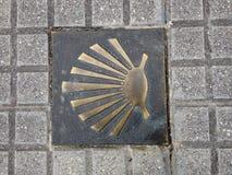 Shell crantent le symbole de la manière de St James photos libres de droits