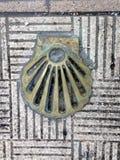 Shell crantent le symbole de la manière de St James photo stock