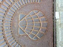 Shell crantent le symbole de la manière de St James image stock