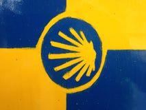 Shell crantent le symbole de la manière de St James image libre de droits