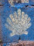 Shell crantent le symbole de la manière de St James images libres de droits