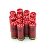 12 shell de espingarda do calibre isolados Fotos de Stock Royalty Free