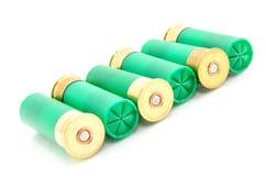 12 shell de espingarda do calibre usados caçando Imagens de Stock Royalty Free