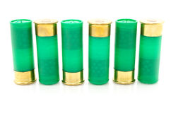 12 shell de espingarda do calibre usados caçando Fotos de Stock