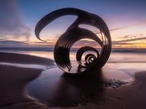 Shell de Mary à la plage de Cleveleys photographie stock