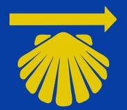 Shell de St James com seta amarela Fotografia de Stock