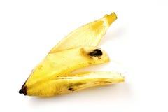 Shell della banana su fondo bianco Fotografia Stock Libera da Diritti
