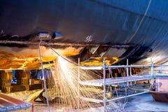 Shell des Schiffs reparieren Lizenzfreies Stockbild