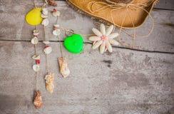 Shell en el de madera Fotos de archivo libres de regalías