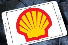 Shell energy and petrochemical company logo. Logo of Shell energy and petrochemical company on samsung tablet Royalty Free Stock Photos