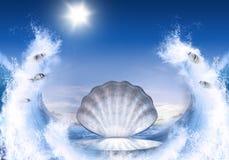 Shell für Aphrodite Stockfotografie