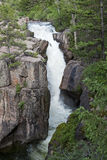 Shell Falls In Bighorn Mountains Stock Photo