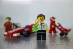 Shell Ferrari Lego toys Royalty Free Stock Photos