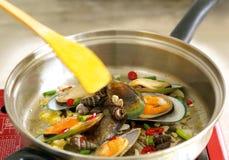 Shell fish dish Stock Photos