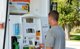 Shell Fuel Dispenser/Gas Pumps Royalty Free Stock Photography