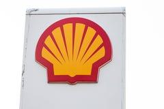SHELL fuel and gas station. Riga, Latvia - April 24. SHELL fuel and gas station stock images
