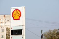SHELL fuel and gas station. Riga, Latvia - April 24. SHELL fuel and gas station stock photography