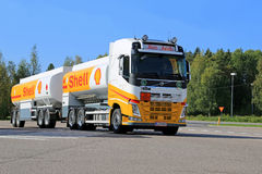 Shell Fuel Truck Fotografie Stock