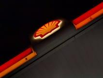 Shell Fueling Station i Labuan royaltyfri foto