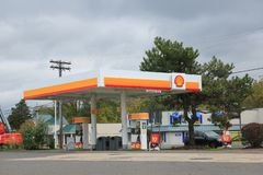Shell Gas Station photo stock