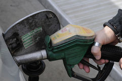 Shell Gas Station Arkivbilder