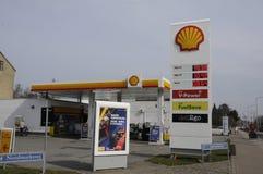 Shell Gas Station Royaltyfri Foto