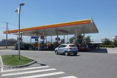 Shell Gas Station. A Shell Gas station on the Intervial Highway in Chile royalty free stock photo