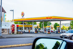 Shell gas station. Shell oil company is one the largest oil and natural gas producers stock photos