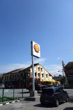 Shell gas station on a sunny day. IPOH, MALAYSIA - 25 NOV, 2015: Shell gas station on a sunny day of November 25, 2015 Ipoh, Malaysia royalty free stock photos