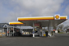 SHELL GAS STION Arkivfoto