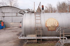 Shell-Gasbehälter Lizenzfreies Stockfoto