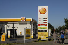 SHELL GASOLINE Stock Photography