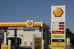 SHELL GASOLINE Stock Images