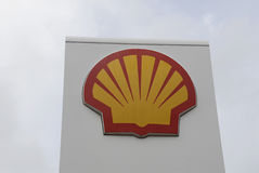 SHELL GASOLINE STATION Stock Photography