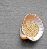 Shell Gold Imagenes de archivo