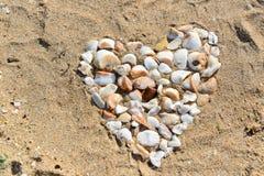 Shell Heart Foto de archivo