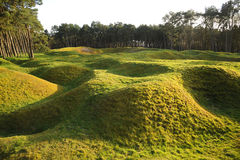 Shell holes at Vimy Ridge. Belgium. Stock Image