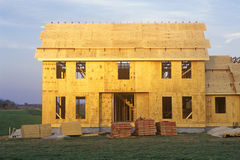 Shell of home under construction, Royalty Free Stock Image