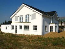 Shell of a house. New constructed two-familie house in a new district Stock Image