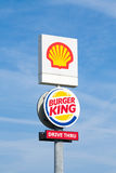 Shell i Burger King pilon Obraz Royalty Free