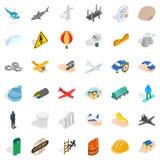 Shell icons set, isometric style. Shell icons set. Isometric style of 36 shell vector icons for web isolated on white background Stock Photo